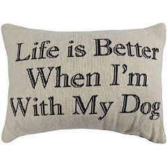 Park B. Smith ''Life Is Better'' Throw Pillow