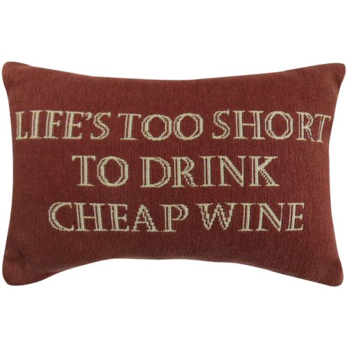 "Park B. Smith ""Life and Wine"" Throw Pillow"
