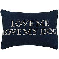 Park B. Smith ''Love Dog'' Throw Pillow