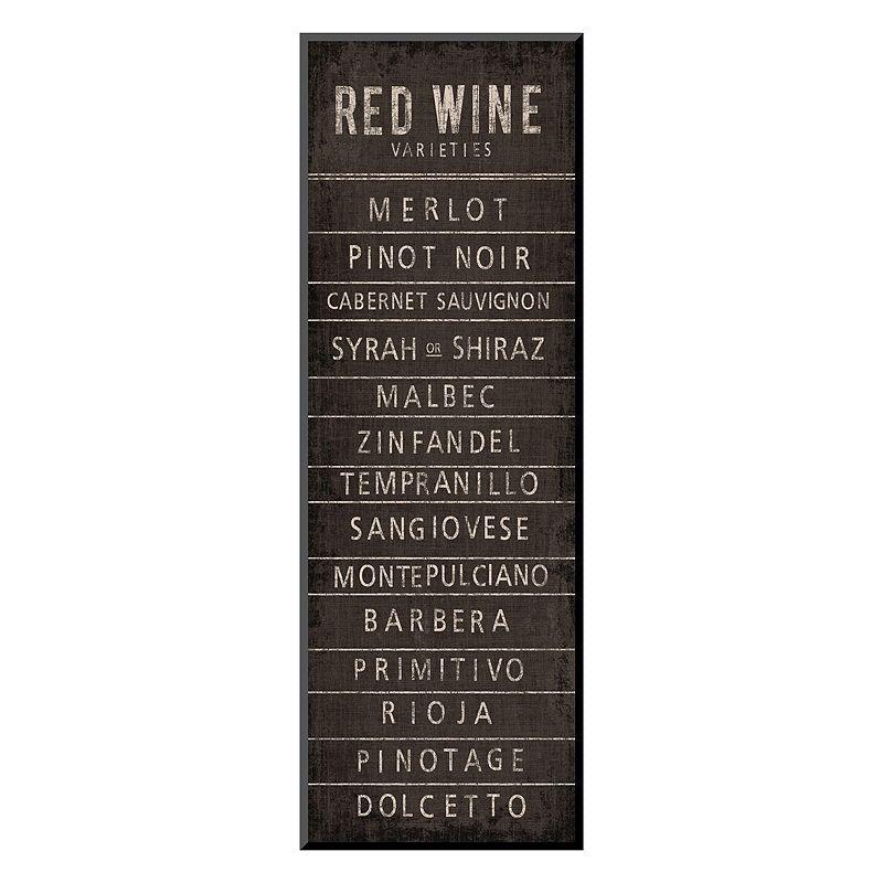 "Art.com ""Wine Varieties I"" Wall Art, Black"