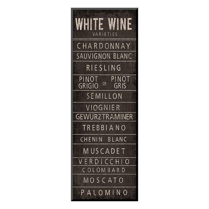 "Art.com ""Wine Varieties II"" Wall Art, Black"