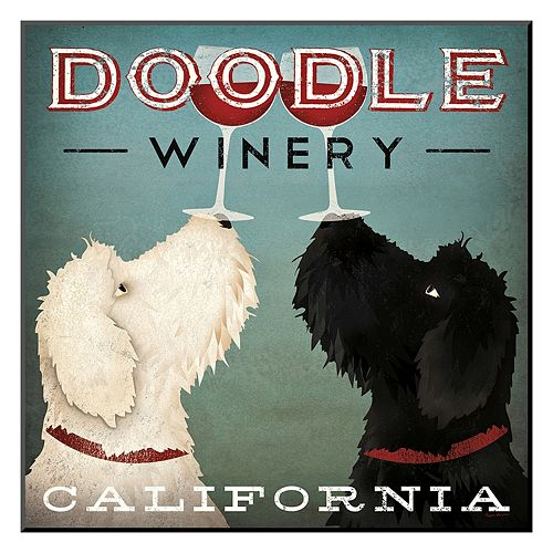 Art.com Doodle Wine Wall Art