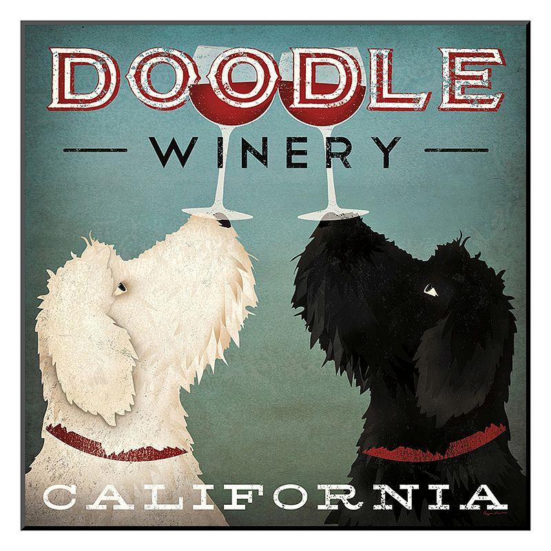 "Art.com ""Doodle Wine"" Wall Art, Red"