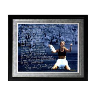 "Steiner Sports Brandi Chastain 1999 World Cup Game-Winning Penalty Kick Facsimile 16"" x 20"" Framed Metallic Story Photo"