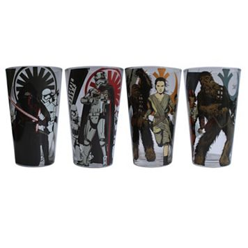 Star Wars: Episode VII The Force Awakens 4-pc. Hero & Villain Glass Set