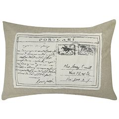 Park B. Smith Postcard Linen Throw Pillow