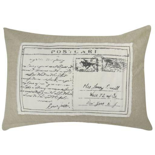 Park B. Smith Postcard Linen Throw Pillow