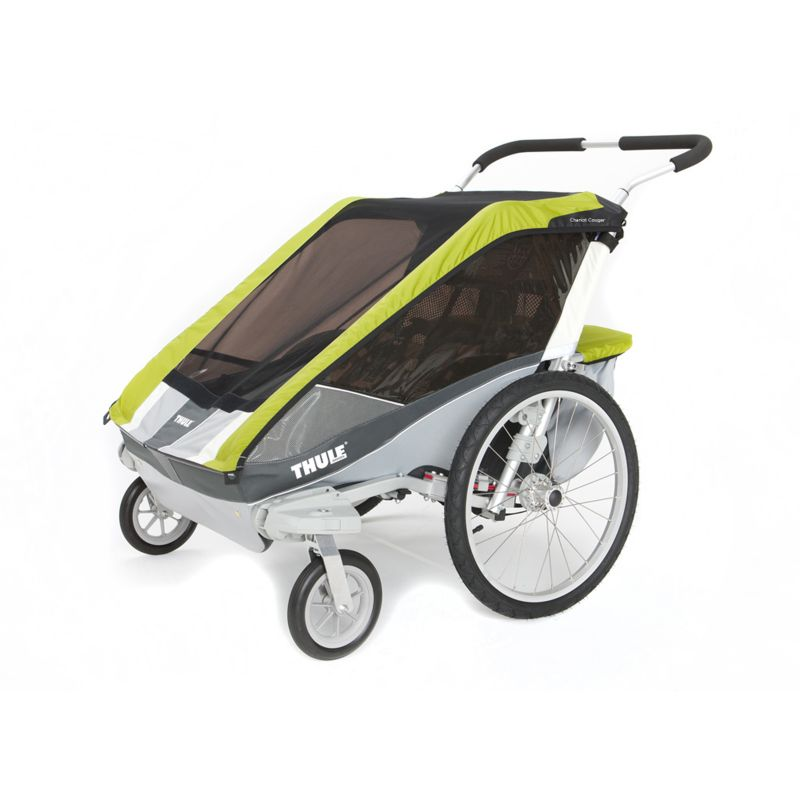 Thule Chariot Cougar 2 Double Child Carrier-Avocado