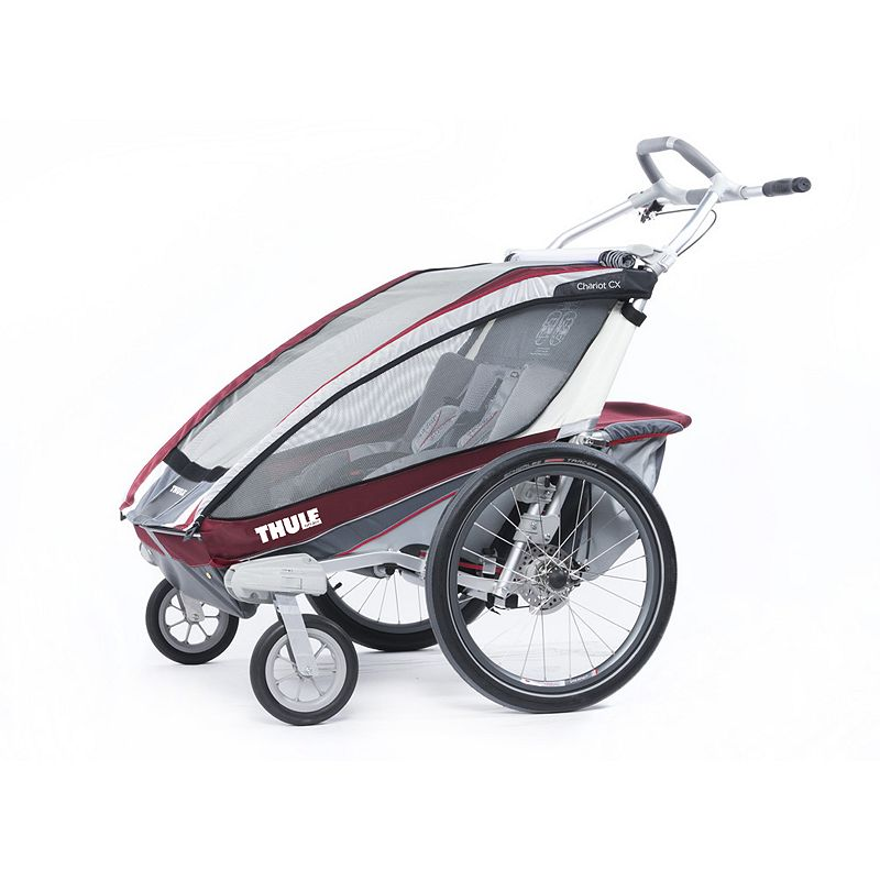 Thule Chariot CX2 Double Child Carrier-Burgundy