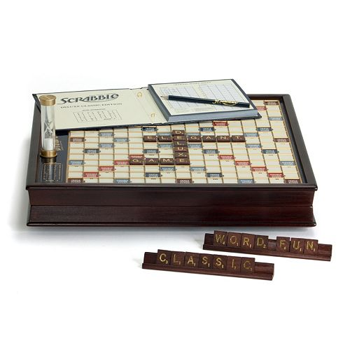 Scrabble Game Deluxe Wooden Edition by Winning Solutions