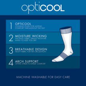 Men's Croft & Barrow 4-pack Opticool Textured Dress Crew Socks