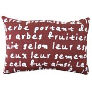 Park B. Smith ''French Script'' Throw Pillow