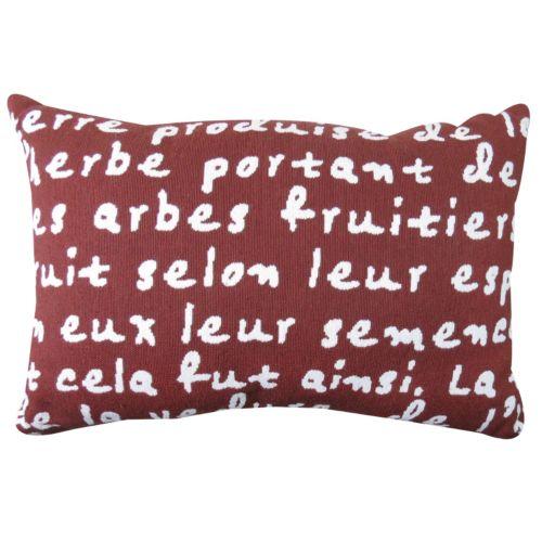 Park B. Smith ''French Script'' Throw Pillow