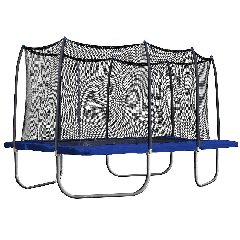 Skywalker Trampolines 15-ft. Rectangle Trampoline with Enclosure, Blue