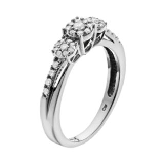 I Promise You Cluster Diamond Engagement Ring in Sterling Silver (1/4 Carat T.W.)
