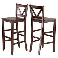 Winsome 2 pc Victor Bar Stool Set