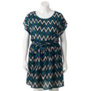Wrapper Chevron Wrap Dress - Juniors' Plus