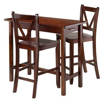 Winsome 3-piece Kitchen Island Dining Set