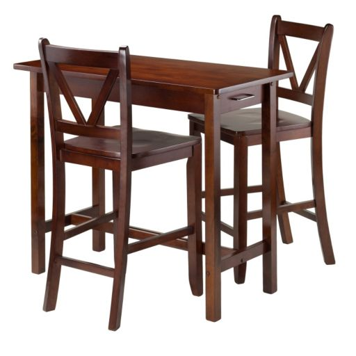 Winsome 3-piece Kitchen Island Dining Set