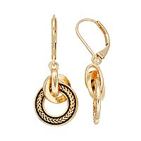 Dana Buchman Interlocking Circle Drop Earrings