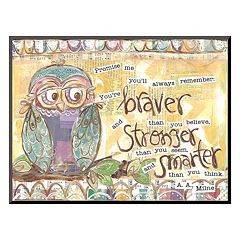 Art.com 'Owl Family Braver Stronger Smarter' Wall Art