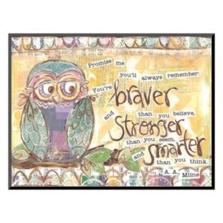 """Art.com """"Owl Family Braver Stronger Smarter"""" Wall Art"""