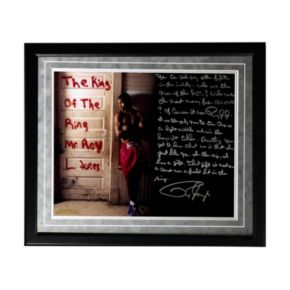 "Steiner Sports Boxing Roy Jones Jr. Dominating in the '90s Facsimile 16"" x 20"" Framed Metallic Story Photo"