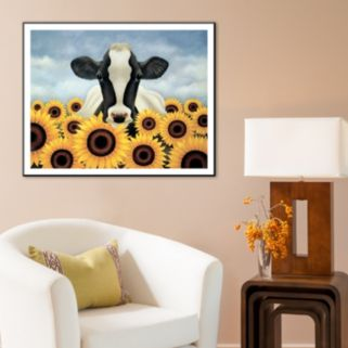 """Art.com """"Surrounded by Sunflowers"""" Wall Art"""