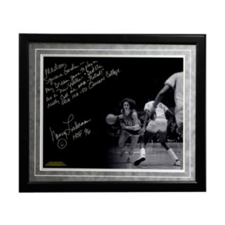 """Steiner Sports Old Dominion Monarchs Nancy Lieberman Playing in MSG Facsimile 16"""" x 20"""" Framed Metallic Story Photo"""