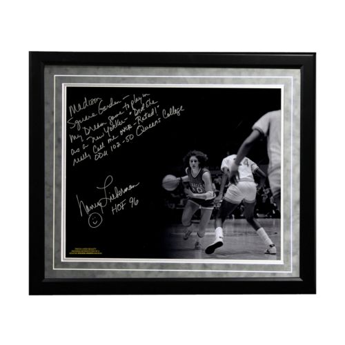 Steiner Sports Old Dominion Monarchs Nancy Lieberman Playing in MSG Facsimile 16″ x 20″ Framed Metallic Story Photo