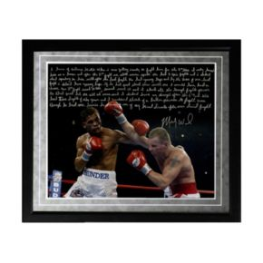 """Steiner Sports Boxing Micky Ward Fighting Facsimile 16"""" x 20"""" Framed Metallic Story Photo"""