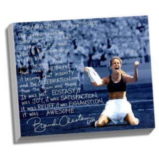 """Steiner Sports Brandi Chastain World Cup Game Winning Penalty Kick Facsimile 22"""" x 26"""" Stretched Story Canvas"""