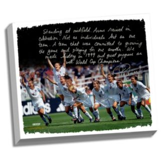 "Steiner Sports Mia Hamm Winning 1999 FIFA World Cup Facsimile 22"" x 26"" Stretched Story Canvas"