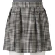 Candie's® Juniors' Pleated Plaid Circle Skirt
