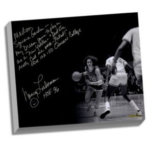 """Steiner Sports Old Dominion Monarchs Nancy Lieberman Playing in MSG Facsimile 22"""" x 26"""" Stretched Story Canvas"""