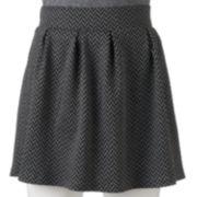 Candie's® Juniors' Pleated Chevron Circle Skirt