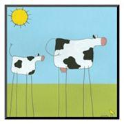 Art.com 'Stick-Leg Cow I' Wall Art