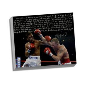 """Steiner Sports Boxing Micky Ward Fighting Facsimile 22"""" x 26"""" Stretched Story Canvas"""
