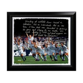 "Steiner Sports Mia Hamm Winning 1999 FIFA World Cup Facsimile 22"" x 26"" Framed Stretched Story Canvas"