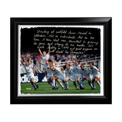 "Steiner Sports Mia Hamm Winning 1999 FIFA World Cup Facsimile 22"" x 26"" Framed Stretched S..."