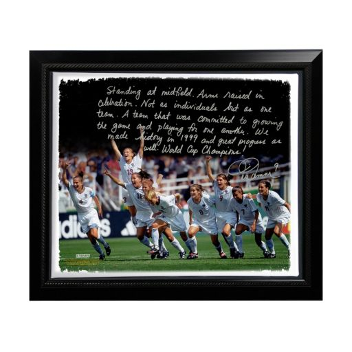 """Steiner Sports Mia Hamm Winning 1999 FIFA World Cup Facsimile 22"""" x 26"""" Framed Stretched Story Canvas"""