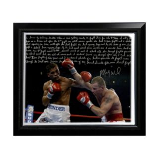 "Steiner Sports Boxing Micky Ward Fighting Facsimile 22"" x 26"" Framed Stretched Story Canvas"