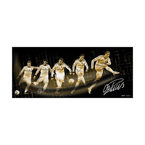 "Steiner Sports Real Madrid Cristiano Ronaldo Shot Progression 16.5"" x 39"" Signed Photo"