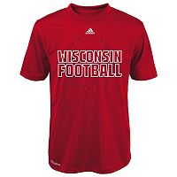 Boys 4-7 adidas Wisconsin Badgers Sideline Helmet Shock Energy Tee