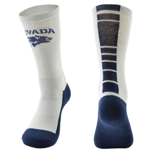 Men's Mojo Nevada Wolf Pack Champ 1/2-Cushion Performance Crew Socks