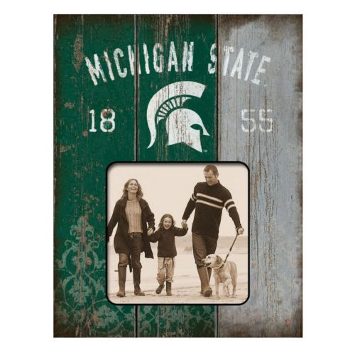 Legacy Athletic Michigan State Spartans Weatherboard 4 x 4 Picture Frame
