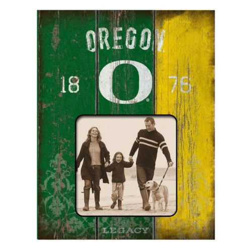 Legacy Athletic Oregon Ducks Weatherboard 4 x 4 Picture Frame