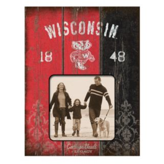 "Legacy Athletic Wisconsin Badgers Weatherboard 4"" x 4"" Picture Frame"
