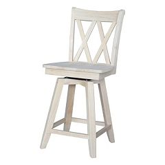 Double ''X'' Back Swivel Counter Stool