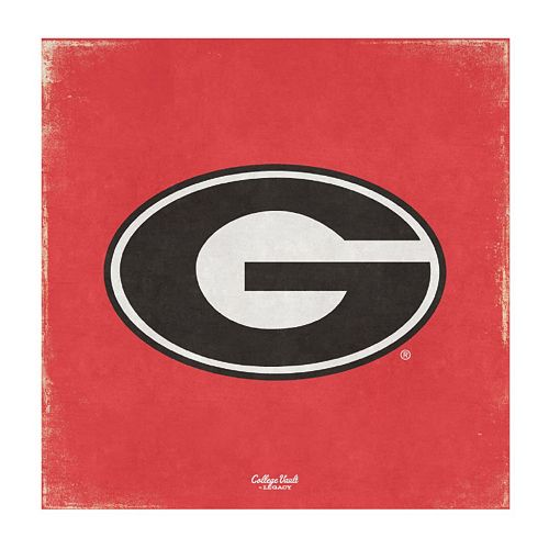 Legacy Athletic Georgia Bulldogs Square Canvas Wall Art